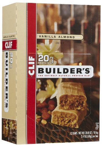 CLIF BUILDER'S - Protein Bar - Vanilla Almond - (2.4 oz, 12 Count) (Cliff Bars Builder Bars compare prices)