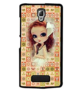PrintDhaba Sweet Doll D-3159 Back Case Cover for LENOVO A2010 (Multi-Coloured)