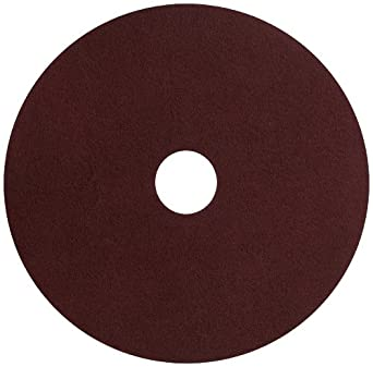 "Glit 11521 TN Polyester Blend Maroon Wood Surfacing Pad, Synthetic Blend Resin, Aluminum Oxide Grit, 21"" Diameter, 175 to 350 rpm (Case of 10)"