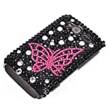 MOONCASE Butterfly Style Bling Rhinestone Crystal Devise Hard Back Case Cover for Htc Wildfire S G13