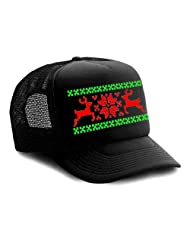 Black Reindeer Ugly Sweater Trucker