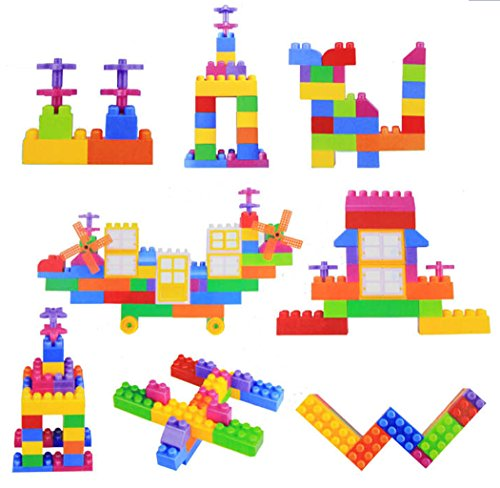 QWinOut 174pcs Assembling Building Block Sets Traditional Learning Children Educational Jigsaw Toy to Develop Intelligence Creative and Practical Toys for Kid Children Baby