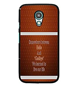 PrintDhaba Quote D-1325 Back Case Cover for MOTOROLA MOTO G2 (Multi-Coloured)