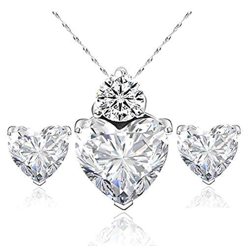 Parure Cristallo Cuore cristallo Swarovski® Elements argento 925