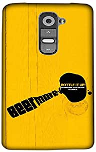 Timpax Slip-resistant, stain-resistant and tear-resistant Hard Back Case Cover Printed Design : Beer mare Bottle it up.Specifically Design For : LG G2 mini ( D618 )