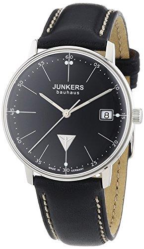 Junkers - 60712 - Montre Femme - Quartz Analogique - Bracelet Cuir Noir