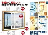 アクリサンデー エコな簡易内窓セット ホワイト LW1800×H1400以内 (PU-S L WT)