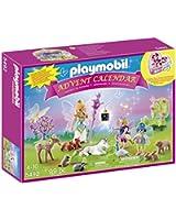 Playmobil - 5492 - Calendriers De L'avent - Fées Avec Licorne Et Animaux De La Forêt
