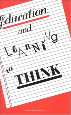 Large book cover: Education and Learning to Think