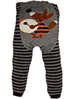 Baby and Toddler Wooly leggings by Dotty Fish boys Brown Fantastic Mr Fox