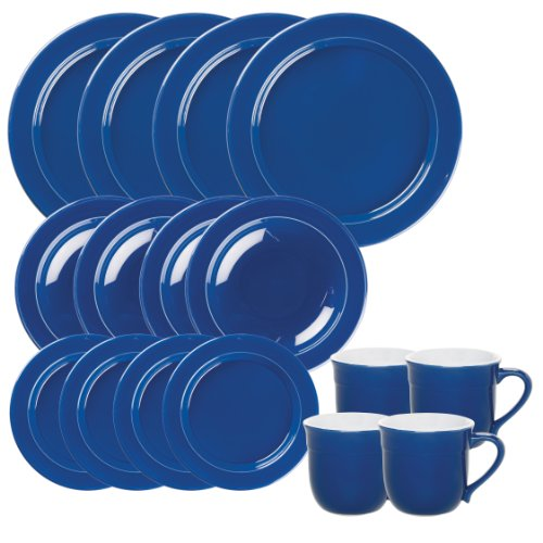Emile Henry 16-Piece Dinnerware Set, Service for 4, Azur