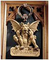 Classic Dragon Gargoyle Statue Sculpture Wall Door Dcor