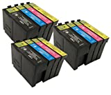 3 X T1306XL - Compatible Ink Cartridges to replace Epson Stylus SX620FW Printers. XL Cartridges - High Capacity - Latest Chip - Pack replaces (T1301/Black, T1302/Cyan, T1303/Magenta, T1304/Yellow) T1306 - 33ML Black, 14ML Colours **By TriINKS***
