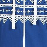 Mens-Unisex-Aztec-Print-Zip-Up-Oska-Onesie-All-In-One-Hooded-Jumpsuit-Playsuit-Royal-Blue