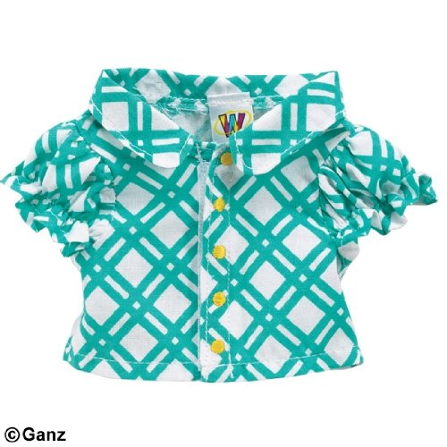 WE000303 Turquoise Blouse Webkinz New Code Sealed With Tag - 1