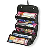 Krevia Roll N Go 4 In 1 Travel Buddy Cosmetic Shaving Toiletry Bag Jewellery Storage Organizer