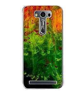 Colourful Fluidic Design 2D Hard Polycarbonate Designer Back Case Cover for Asus Zenfone Selfie ZD551KL