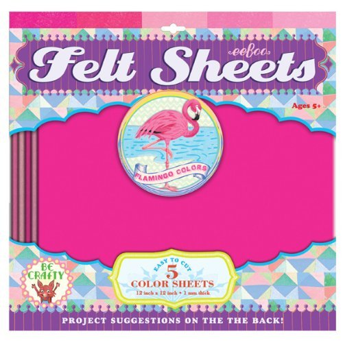 eeBoo Pink Flamingo Color Felt Sheets