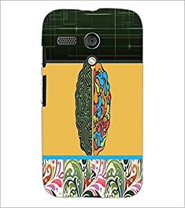 PrintDhaba Abstract Design D-5738 Back Case Cover for MOTOROLA MOTO G (Multi-Coloured)