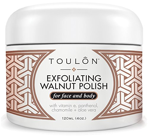 Exfoliating Facial Scrub. Natural Walnut Scrub Exfoliator for Face & Body. Great to Exfoliate for Men and Women and Treat Acne Prone Skin. Free Gift/No Risk