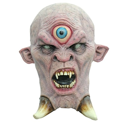 [Cyclops Adult Latex Mask One Eyed Monster Ancient Greek Mythical Creature] (One Eyed Cyclops Costume)