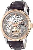 Armand Nicolet LS8 8620S-GL-P713GR2 43mm 18K Gold Case Grey Leather Men's Watch