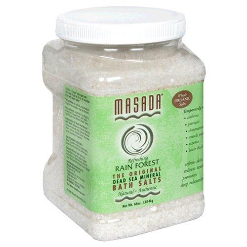 Masada Bath Salts, Refreshing Rain Forest, Dead Sea Mineral, 64 oz (1.814 kg)