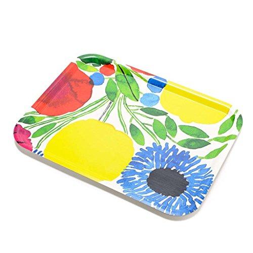 (マリメッコ)Marimekko SITRUUNAPUU PLYWOOD トレー シトルーナプー/レモンツリー 67093 130 White/Red/Yellow [並行輸入品]