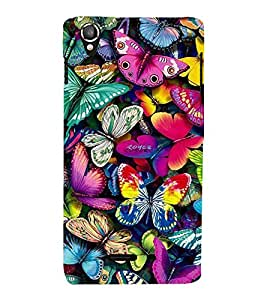 Vizagbeats Butterflies Back Case Cover for Lava 800