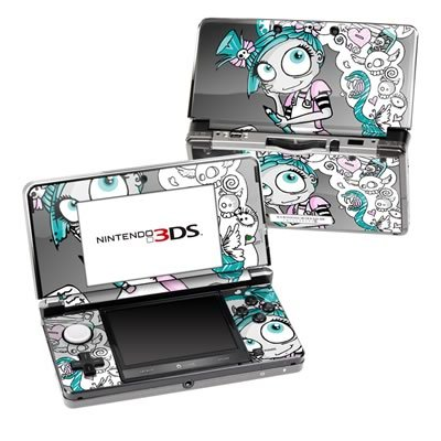 Killer Doodles Design Decorative Protector Skin Decal Sticker for Nintendo 3DS Portable Game Device