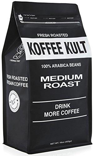 Koffee Kult Coffee Beans Medium Roasted - (1 Lb Ground Coffee)