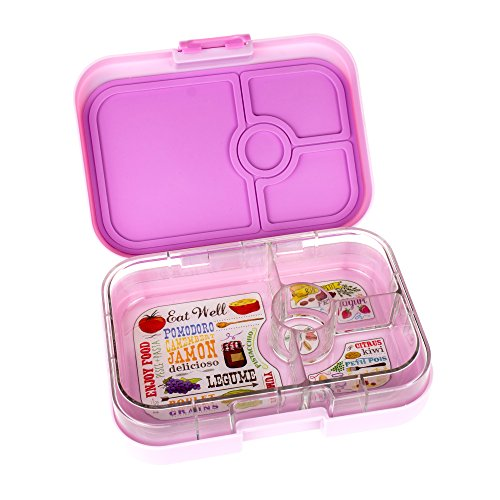 yumbox panino pink lemonade leakproof bento lunch box container for kids an. Black Bedroom Furniture Sets. Home Design Ideas
