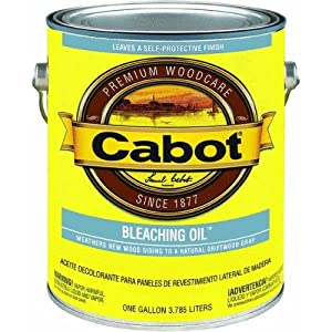 CABOT STAIN 13241 BLEACHING OIL SIZE:1 GALLON. - Amazon.com