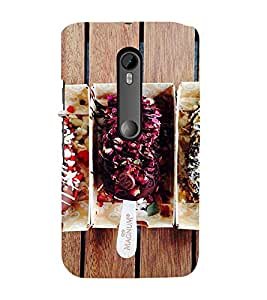Icecream 3D Hard Polycarbonate Designer Back Case Cover for Moto G Turbo Edition :: Moto G Turbo (Virat Kohli Edition)