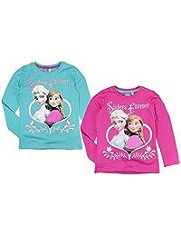 Disney - Frozen - Il regno di ghiaccio - maglietta a maniche lunghe - per bambine