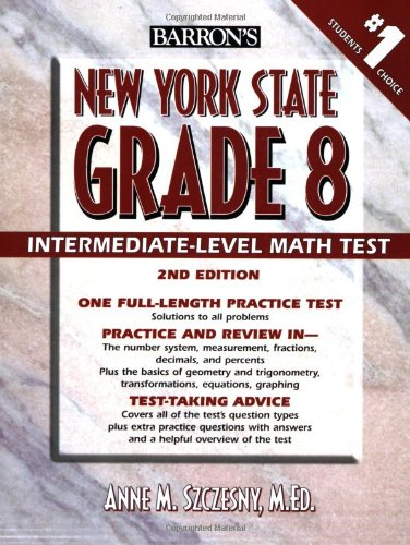 Barron's New York State Grade 8 Math Test (Barron's Educational Series)