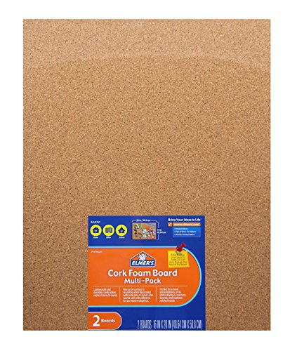 Elmer'S Cork Foam Boards, 16 X 20 Inches, 3/8-Inch Thick, 2-Count (950086)