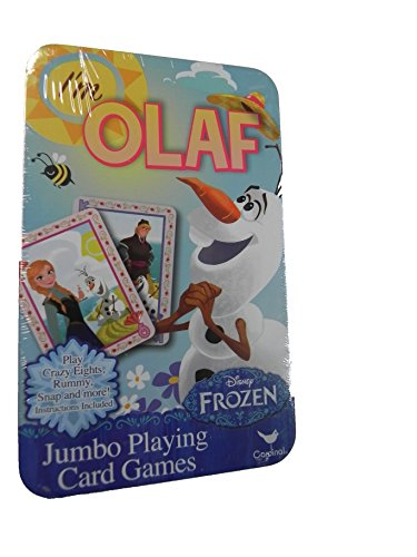 Disney Frozen Jumbo Playing Cards in Tin