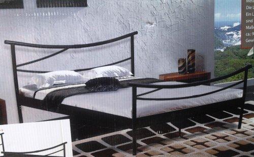 """Metallbett, Jugendbett, Doppelbett, Bett, Bettgestell """"Kyomi 1"""" 140x200 cm"""