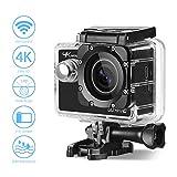 Action Kamera 4K Aoleca 20MP WiFi 2,0 Zoll Ultra HD Helmkamera mit 2...