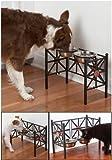 CKR 食器スタンド 3段階高さ調節可能 17cmステンレスボール2個付き