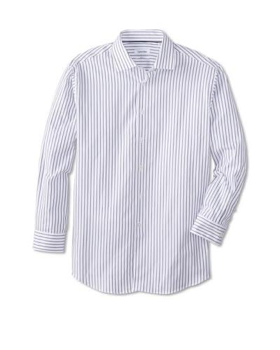 Calvin Klein Men's Regular Fit Spread Collar Dress Shirt