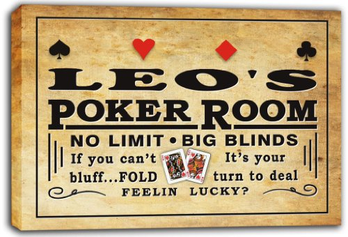 scpd1-0168-leos-poker-room-beer-bar-stretched-canvas-print-sign