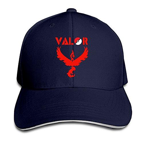 PTCY-Pokemon-Go-Team-Instict-Valor-Team-Sandwich-Peak-Sunbonnet-Hat-Flex-Fit-Hat-Navy