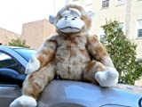 Giant Stuffed 40-inches Tall Plush Huge Gorilla Ape * Jumbo Large Monkey - Color: Beige Mnk Spt - American Made in the USA America