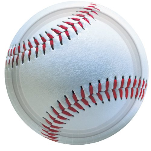 Amscan Baseball Lunch Plates - 8 ct