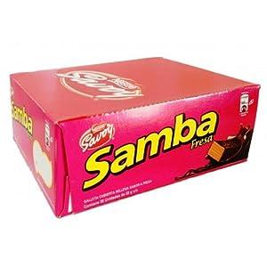 Amazon.com: Samba MAXI Fresa, Galleta Fresa Cubierta de Chocolate, 12