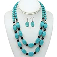 18″ Stunning Beads Natural Turquoise…