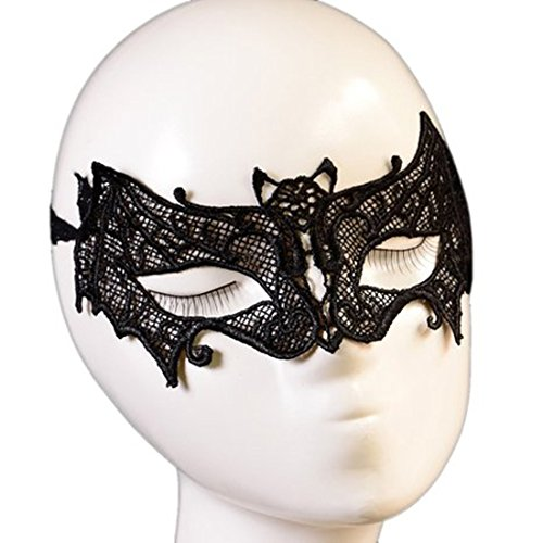 E-futuro® Gothic Girls Lace Mask Masquerade Halloween Party Costume Bat Veil