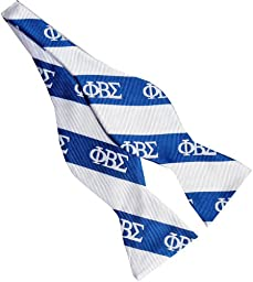 Phi Beta Sigma Fraternity Greek Letters 2.5 Real Silk Self-tie Bow Tie